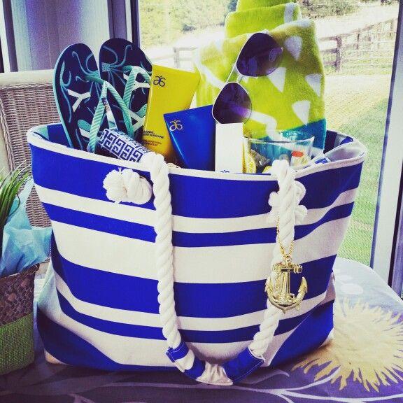 Summer gift basket ideas-beach bag
