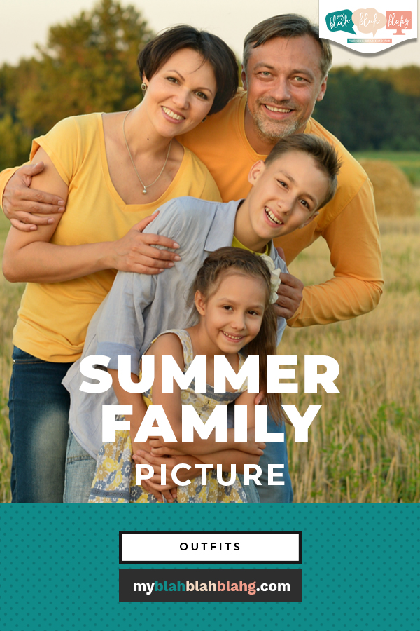 Documenting your summer with family pictures is a great way to keep memories alive! With these color schemes and outfit ideas you can keep pictures low-stress and fun. #MyBlahBlahBlahg #SummerFamilyPictureOutfitIdeas #SummerFamilyPictureColorScheme #OutdoorFamilyPictureOutfitIdeas