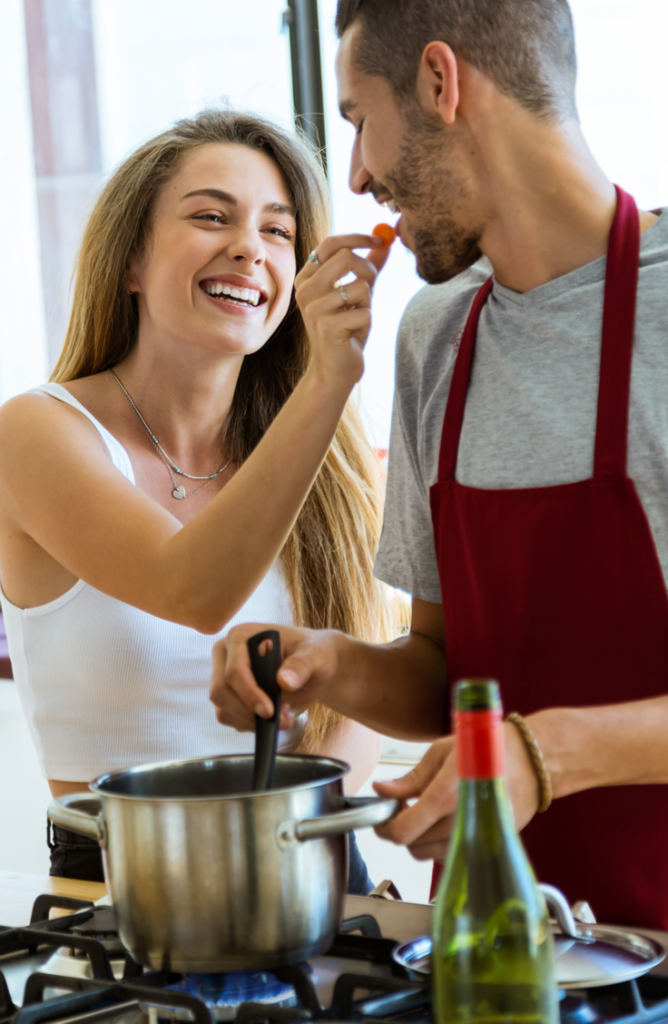 When everything is closed, options for dates can seem thin. It's easy to get in the habit of watching the latest show on Netflix while you surf your phones. Boring! Put away those phones, turn off the TV, and try one of these indoor date ideas instead! These activities are a surefire way to connect as a couple. You can't go wrong with a night of creative cooking!