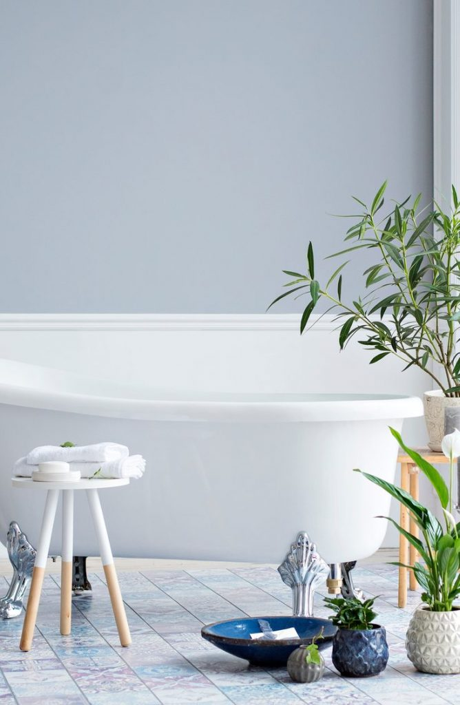 Doesn't this wall color just make you relax just by looking at it? With a few of these zen bathroom ideas, your bathroom will be the calmest room in your house.