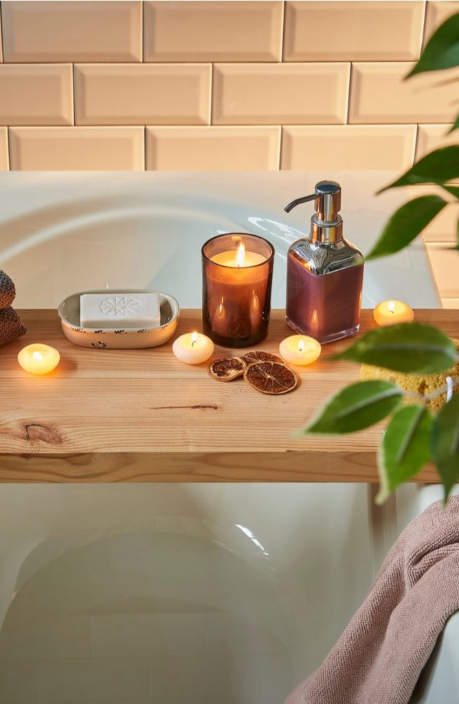 Your bath can be even more calming if you have a piece of food to put your book on and a glass of wine. With a few of these zen bathroom ideas, your bathroom will be the calmest room in your house.