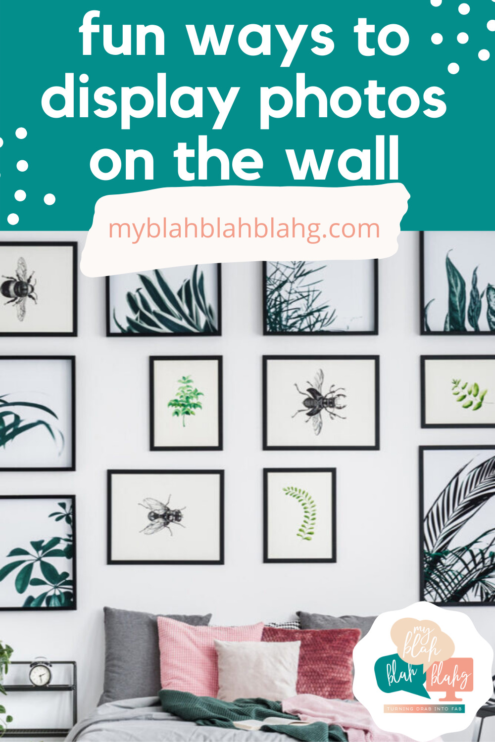 From frames to parties, we've gathered up some creative ways to display your photos! Come check out our post for some ideas and inspiration. #MyBlahBlahBlahg #CreativePhotoDisplay #PhotoDisplayIdeas #PhotoDisplayWedding #PhotoDisplayParty