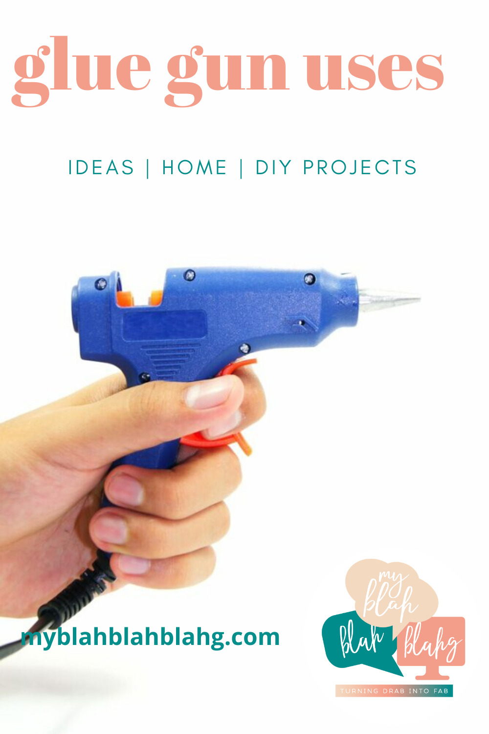 Glue gun uses that not everyone knows about. Do you only pull out your glue gun for crafts? Then you're missing out on the other things it can do for you! #myblahblahblahgblog #gluegunuses