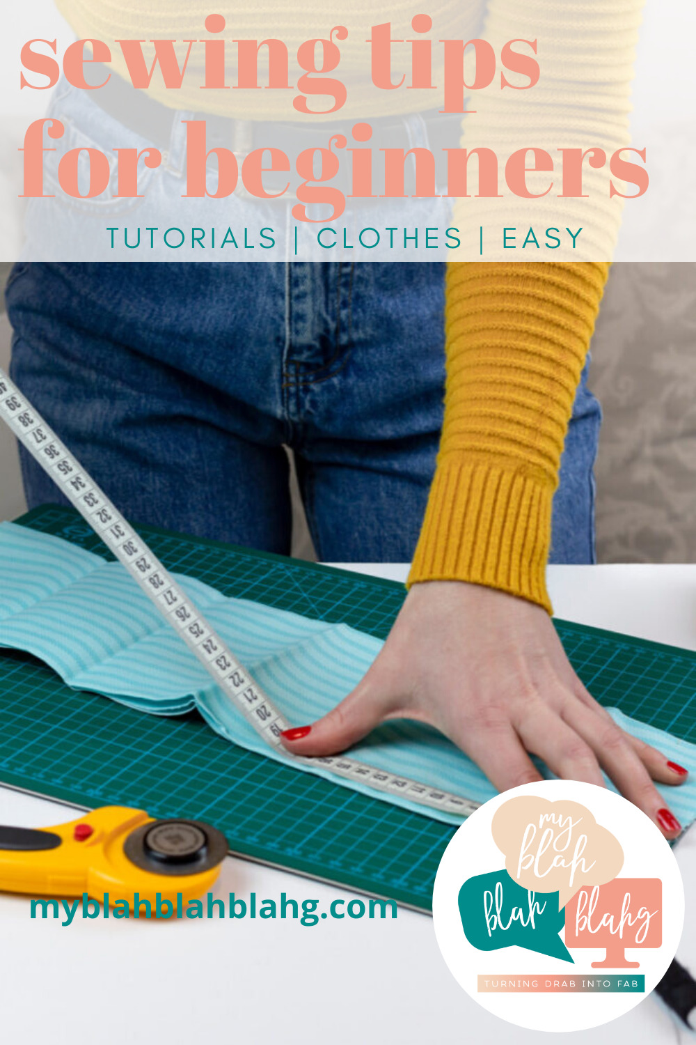 Thinking of learning to sew? Then you've got to check out our sewing hacks! They'll make learning to sew a lot easier. #MyBlahBlahBlahg #SewingHacksForBeginners #BeginnerSewingTips #EasySewingIdeas