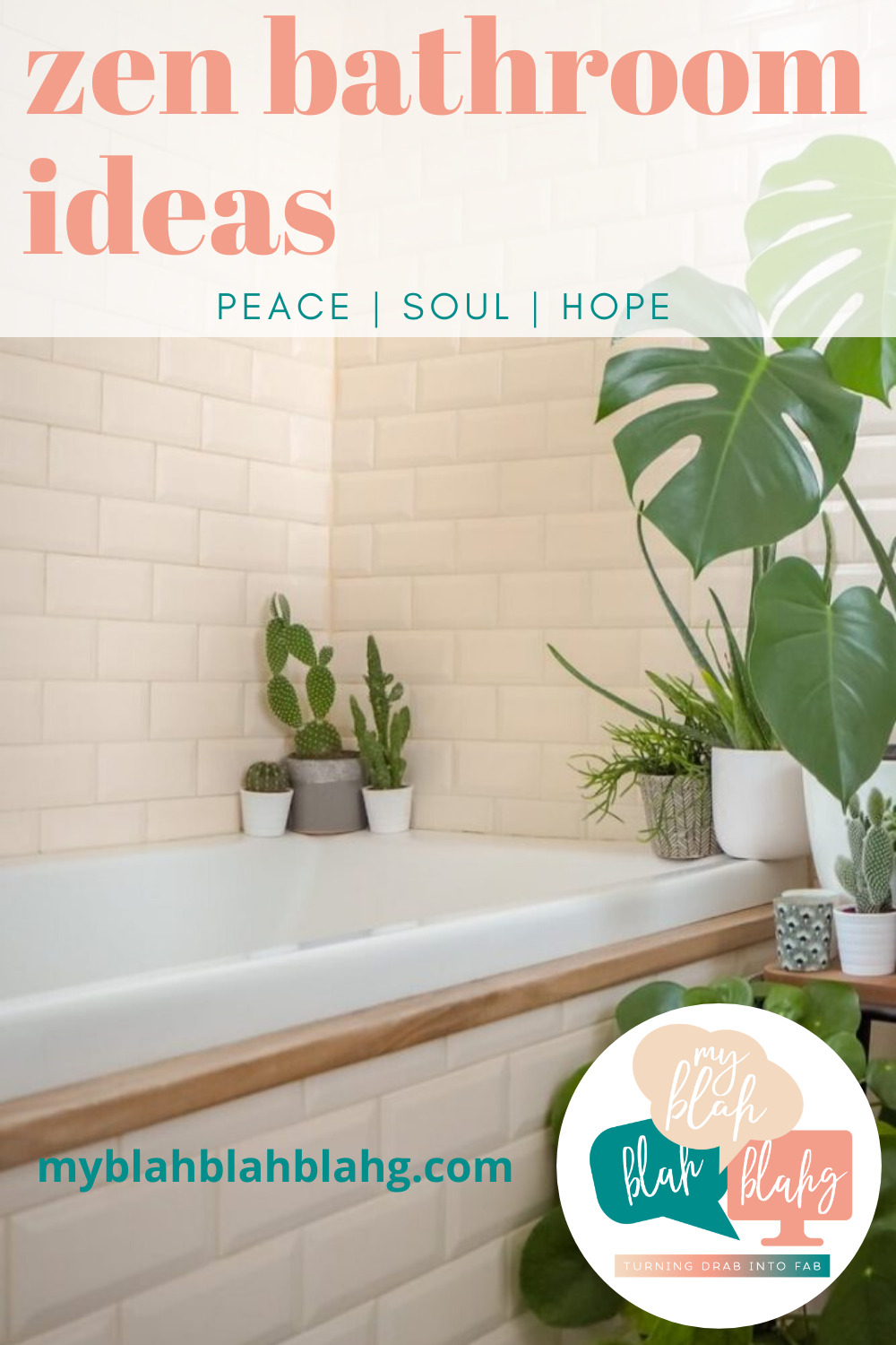 Make the bathroom the most relaxing place in your home with these easy DIY projects. With a little effort, you can make your bathroom completely spa-like. Which of these will you try first? #zen #bathroom #myblahblahblahgblog