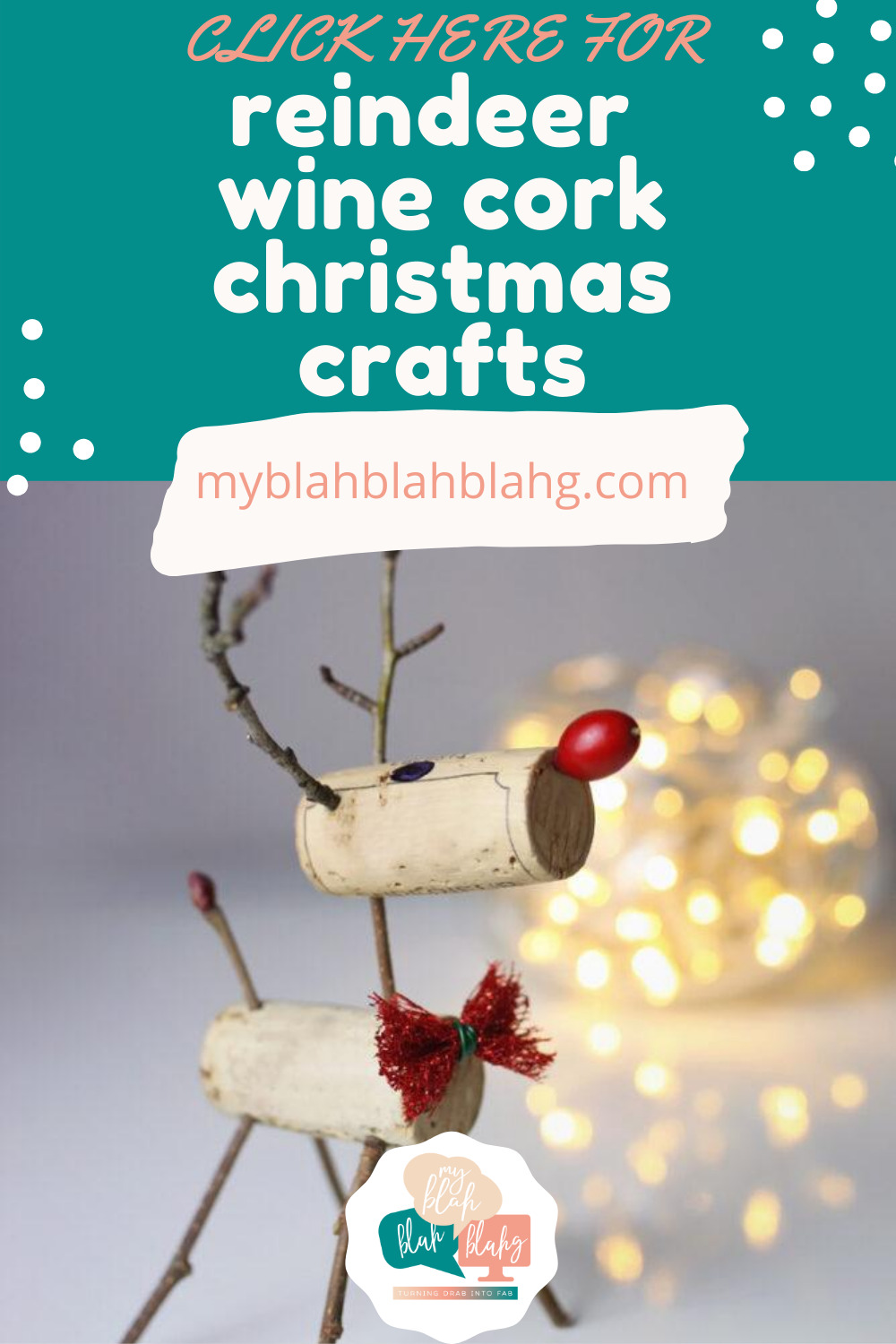 Whether you have a stockpile of wine corks or are just looking for a fun DIY, you've got to check out this post. From ornaments to magnets and wreaths, wine corks are incredibly versatile! #MyBlahBlahBlahg #WineCorkCrafts #ChristmasWineCorkCrafts #DIYChristmasCrafts #DIYWineCorkCrafts #christmascrafts