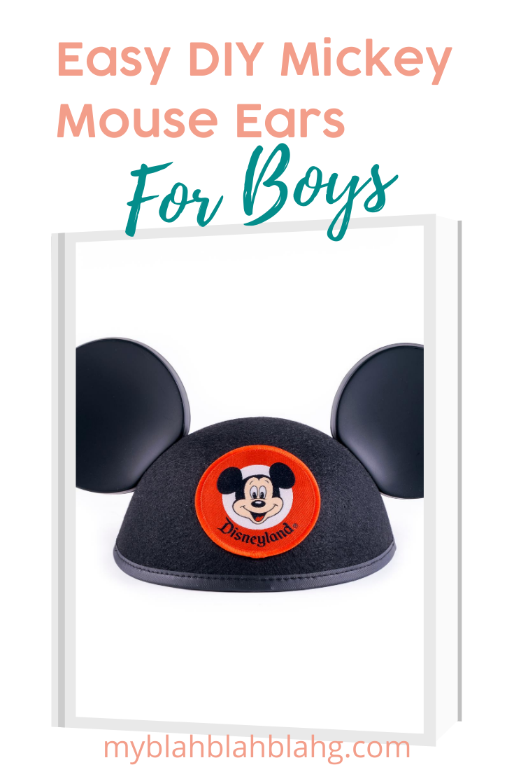 Everybody loves Disney, and who doesn't love Micky Mouse Ears. Everybody including boys can get into these fun patterns. Keep reading to learn about DIY Mickey Mouse ears for boys, using a headband and more#myblahblahblahgblog #mickeymouseears #disneyfun #diy