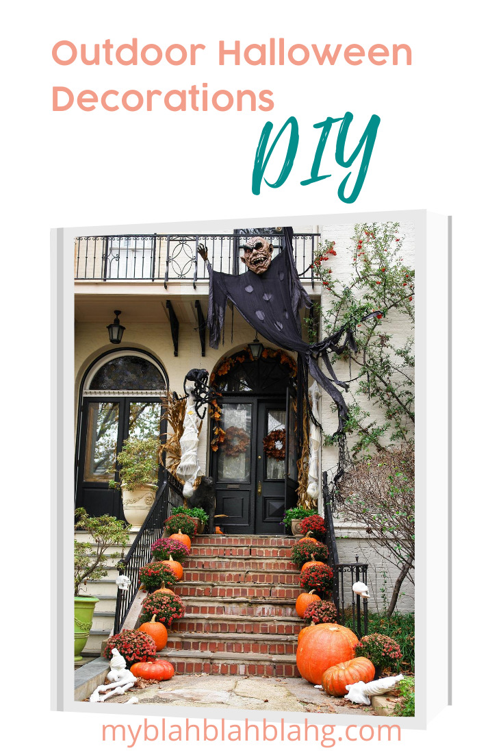 Halloween is one of my favorite holidays. I really get into it. Every year I make sure to add to my decorations and most of them are DIY Halloween decorations. Check out this post about all the things you can make for indoors and outdoors. #myblahblahblahgblog #DIYhalloweendecorations #halloweendecorations