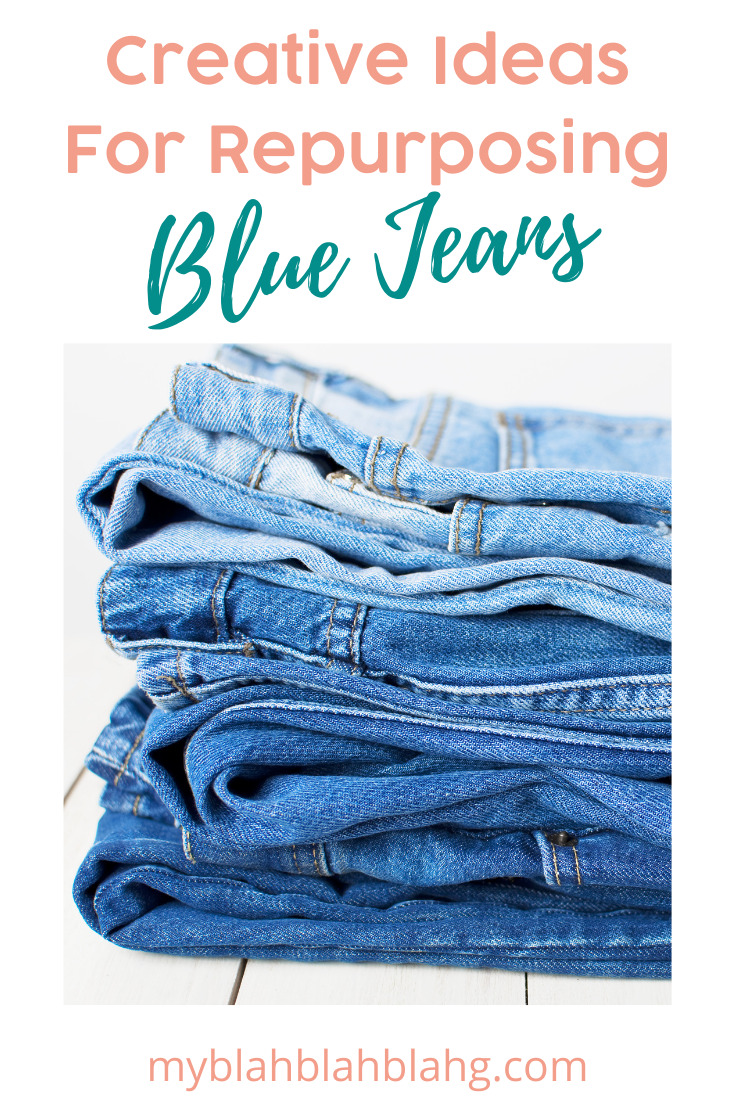 Myblahblahblahg.com is a creative resource with loads of ideas to make life fun and easier. Get thrifty and creative with these ideas for repurposing your worn out blue jeans instead of letting them go to waste!