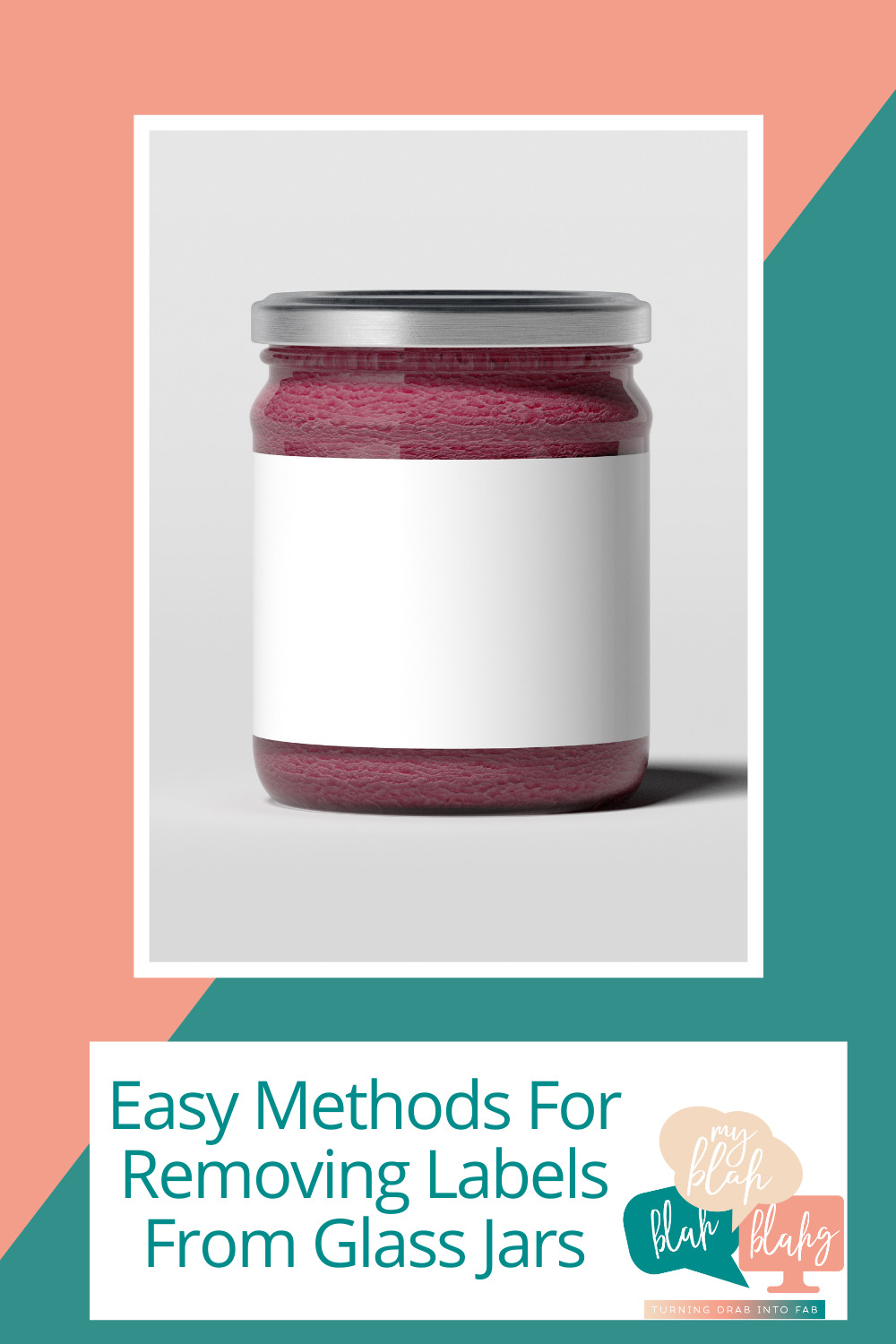 Myblahblahblahg.com is loaded with ideas for DIYs and crafts. Find out ways you can make something new with things you already have. Glass jars and bottles are some of the most versatile items you can repurpose. Learn how you can remove any label from glass for your next project.