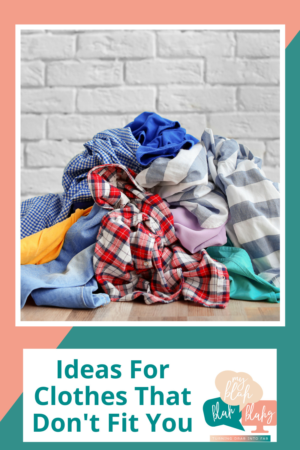 Myblahblahblahg.com has anything and everything you'll ever need to make the best of a tricky situation. Don't worry about clothes that no longer fit! Find out what you can do with them now!
