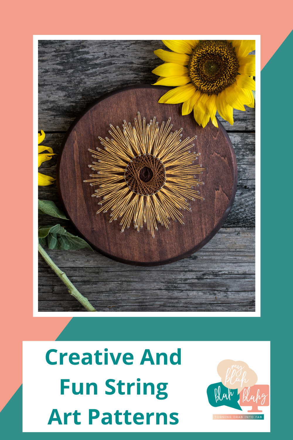 Myblahblahblahg.com has all you need from DIY projects to life hacks! Find out all of the creative ways you can make things with your hands! Try these string art ideas today!