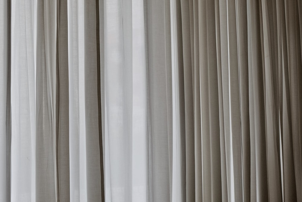 White curtains on a wall