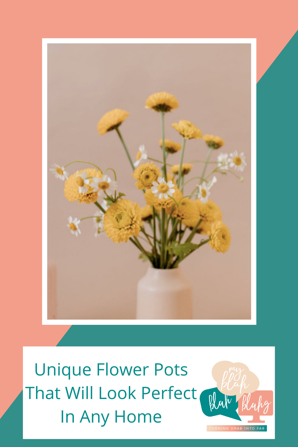 Myblahblahblahg.com has a little bit of everything. Get inspired with a range of tips. Find quick ways to make your home cuter instantly! These flower pot ideas will make all of your houseplants look amazing!