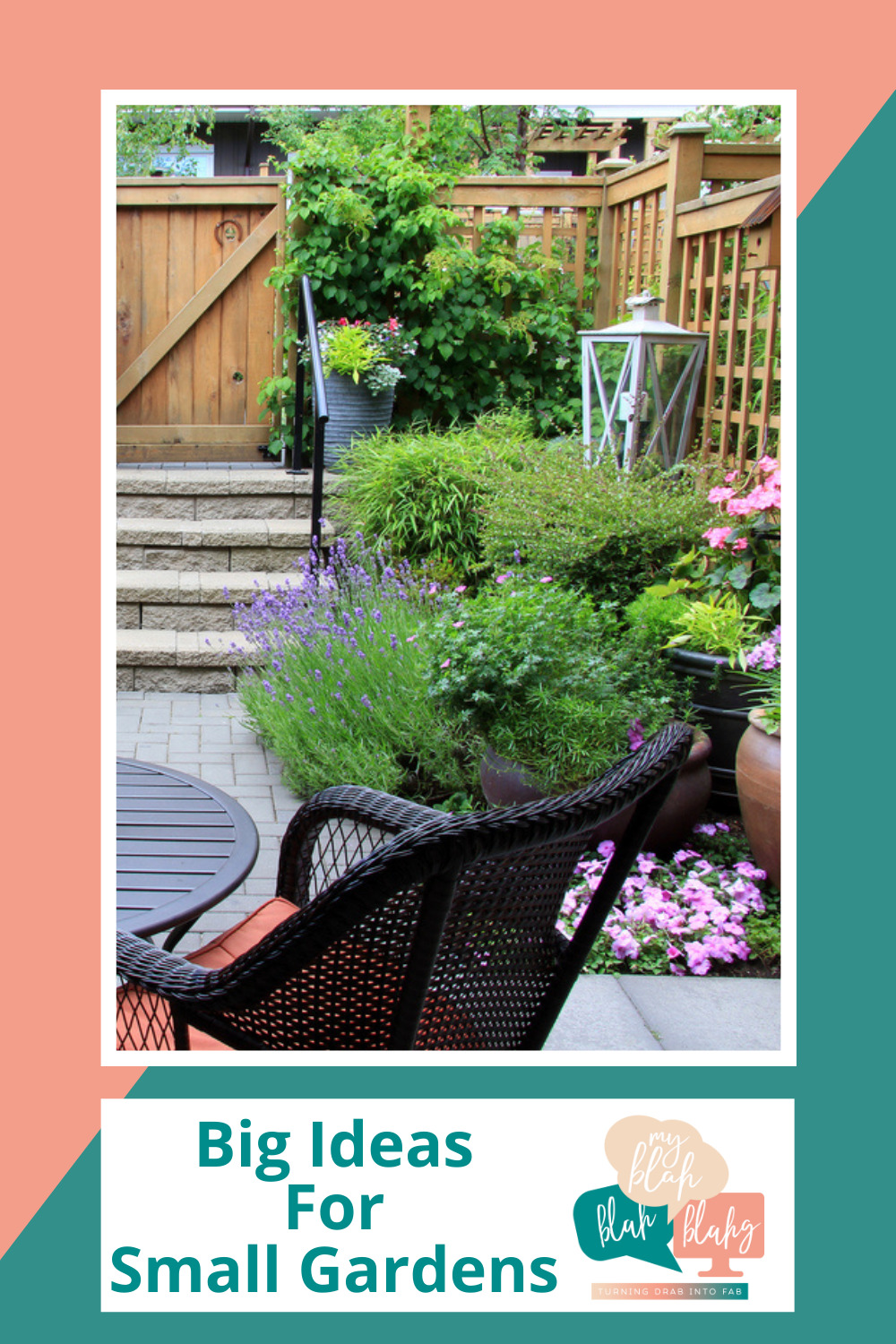 Myblahblahblahg.com has fun ideas for every season! Get ready for the warmer months with cheery florals and inspired projects! These ideas will make the most of your small garden space!