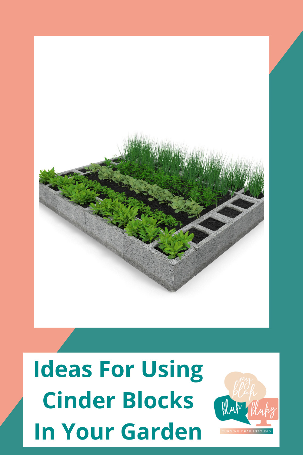Myblahblahblahg.com has fun ideas for every season! Get ready for the warmer months with cheery florals and inspired projects! These DIY cinder block garden ideas have a fresh, modern flair!