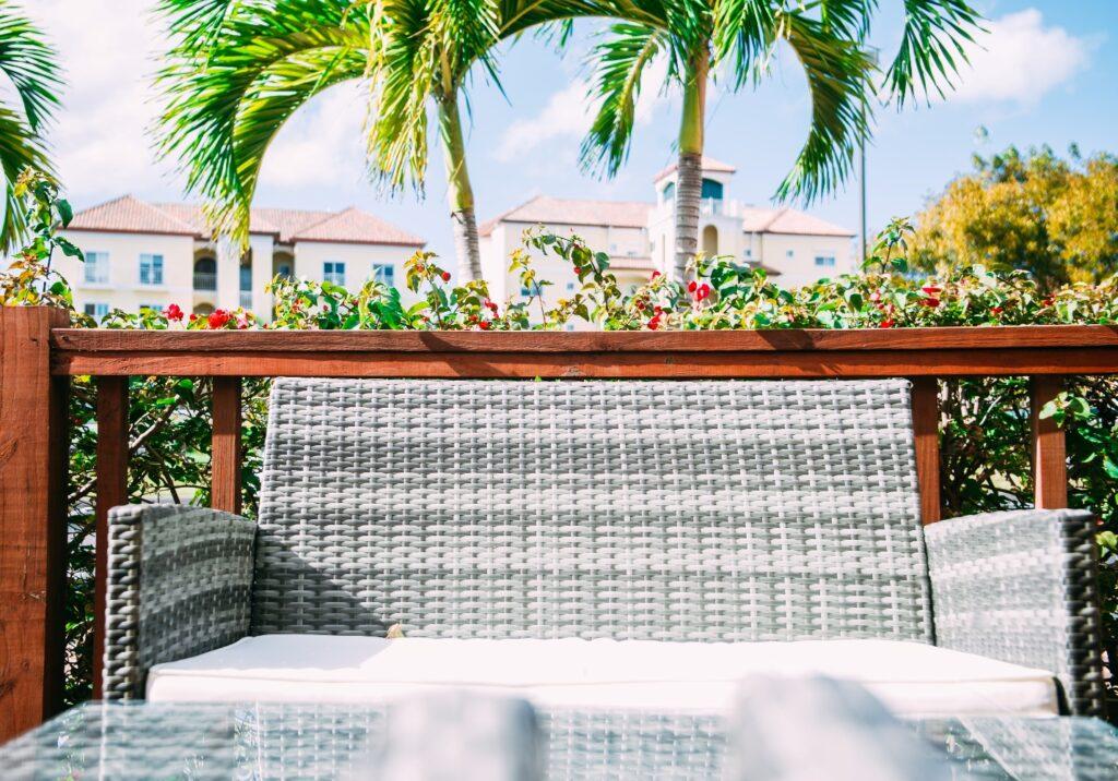 cinder block garden sofa